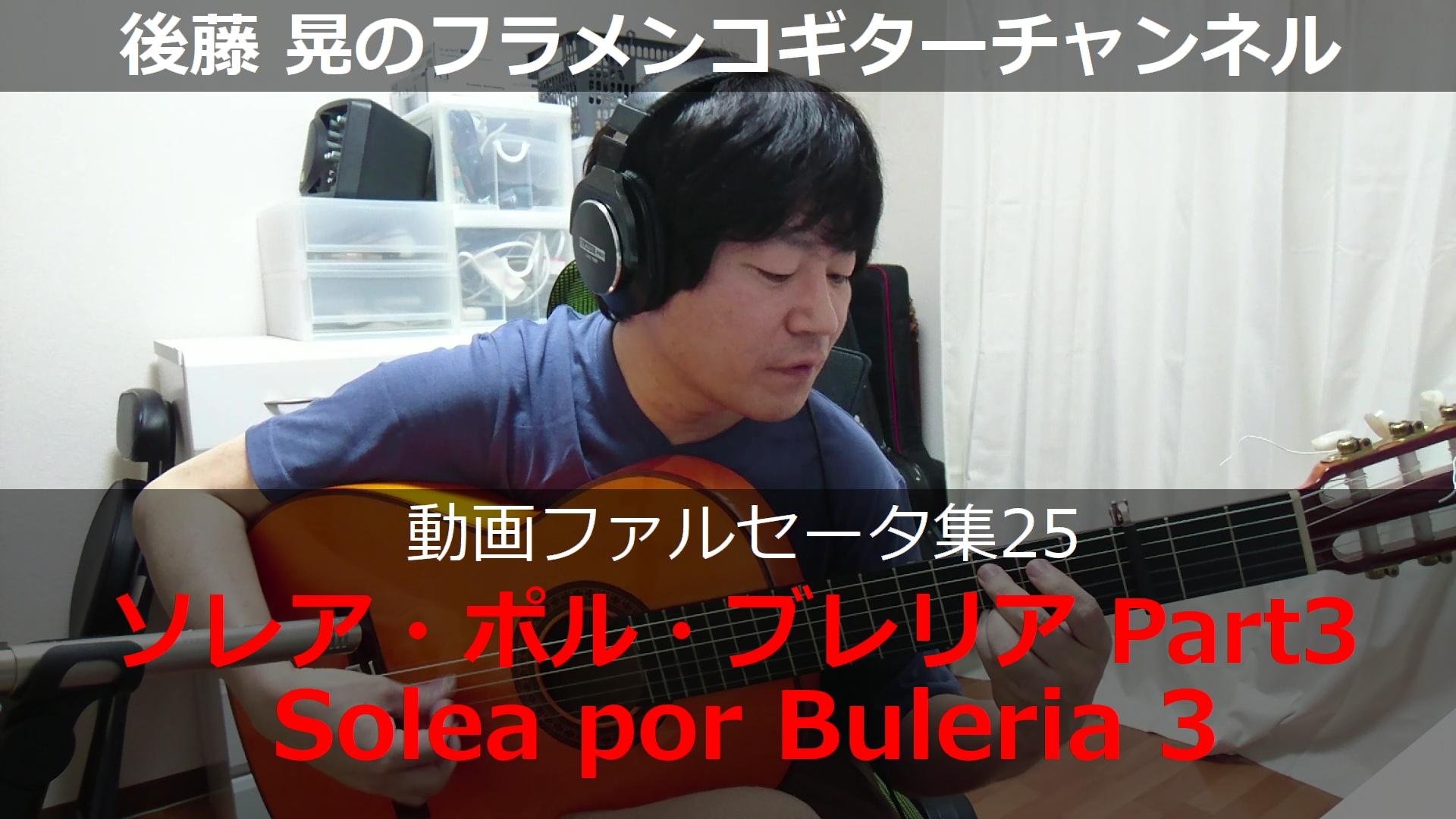 ソレア・ポル・ブレリア ギター演奏